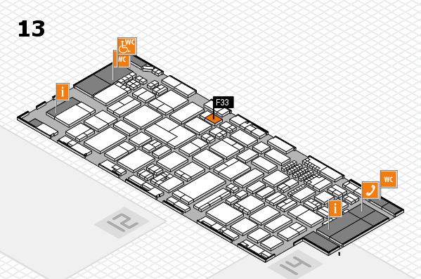 ProWein 2018 Hallenplan (Halle 13): Stand F33