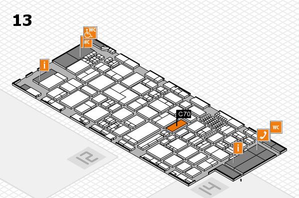ProWein 2018 Hallenplan (Halle 13): Stand C70