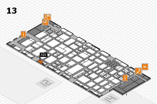 ProWein 2018 Hallenplan (Halle 13): Stand A29