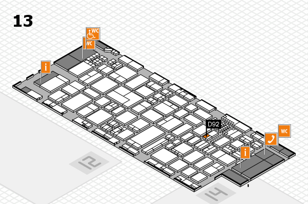 ProWein 2018 hall map (Hall 13): stand D92