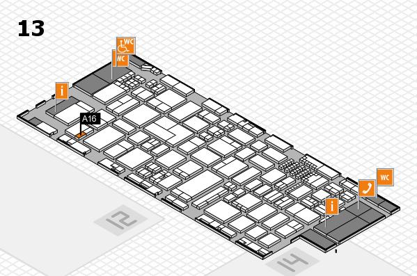 ProWein 2018 Hallenplan (Halle 13): Stand A16