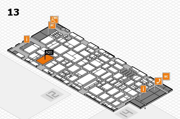 ProWein 2018 Hallenplan (Halle 13): Stand A20