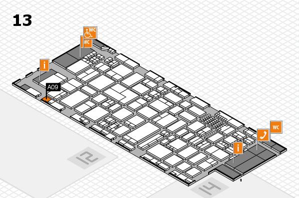 ProWein 2018 Hallenplan (Halle 13): Stand A09