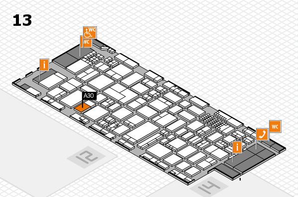 ProWein 2018 Hallenplan (Halle 13): Stand A30