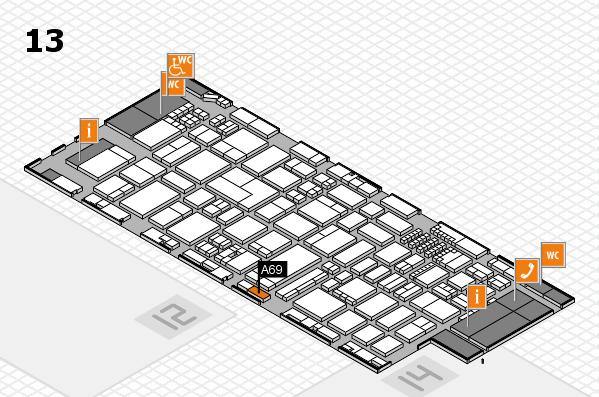 ProWein 2018 Hallenplan (Halle 13): Stand A69