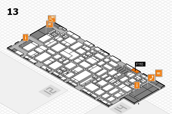 ProWein 2018 Hallenplan (Halle 13): Stand F110