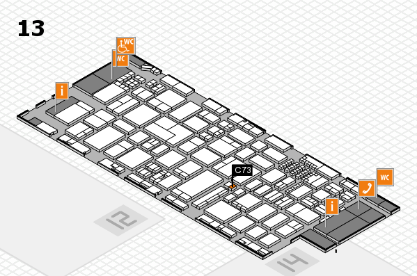 ProWein 2018 hall map (Hall 13): stand C73