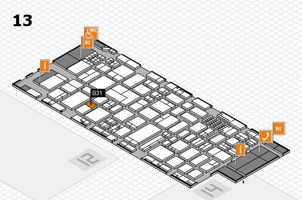 ProWein 2018 Hallenplan (Halle 13): Stand B31