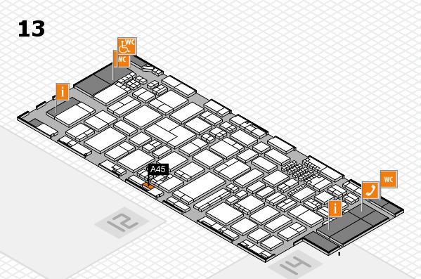ProWein 2018 Hallenplan (Halle 13): Stand A45