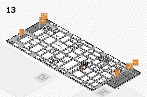ProWein 2018 Hallenplan (Halle 13): Stand B79