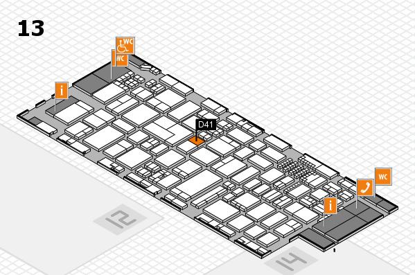 ProWein 2018 Hallenplan (Halle 13): Stand D41