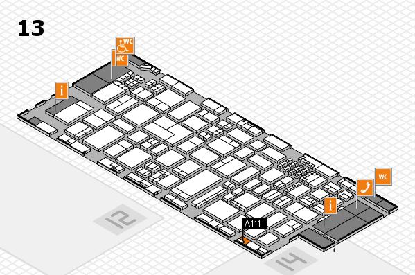 ProWein 2018 Hallenplan (Halle 13): Stand A111