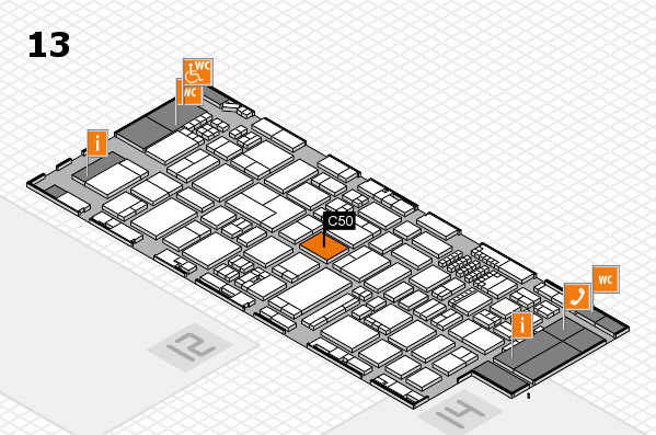 ProWein 2018 Hallenplan (Halle 13): Stand C50