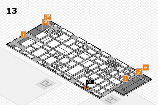 ProWein 2018 Hallenplan (Halle 13): Stand A91