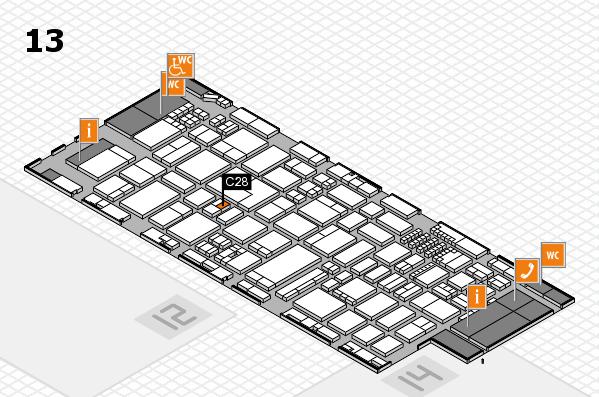 ProWein 2018 Hallenplan (Halle 13): Stand C28
