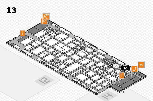 ProWein 2018 Hallenplan (Halle 13): Stand E123
