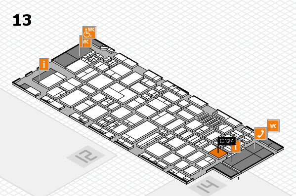 ProWein 2018 hall map (Hall 13): stand C124