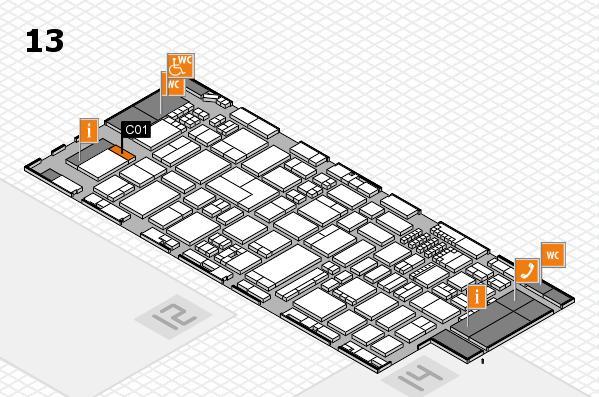 ProWein 2018 Hallenplan (Halle 13): Stand C01