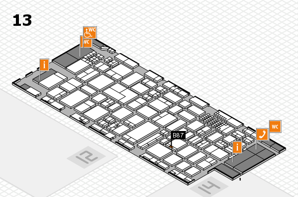 ProWein 2018 hall map (Hall 13): stand B87
