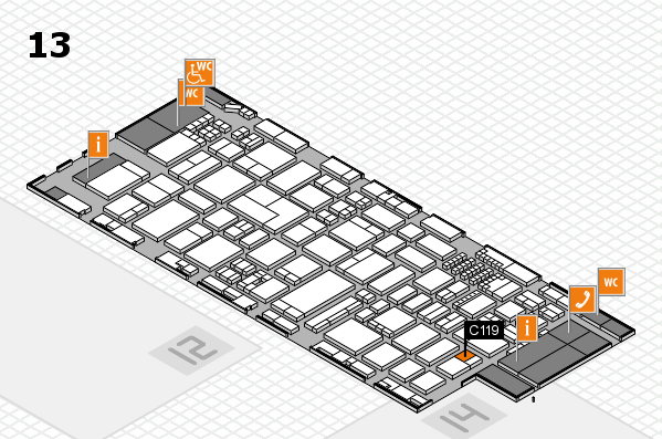 ProWein 2018 hall map (Hall 13): stand C119