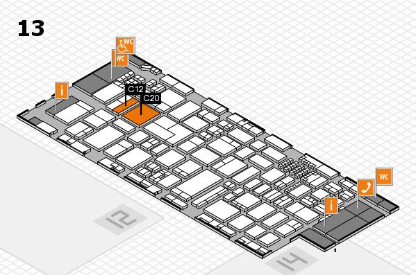 ProWein 2018 Hallenplan (Halle 13): Stand C12, Stand C20