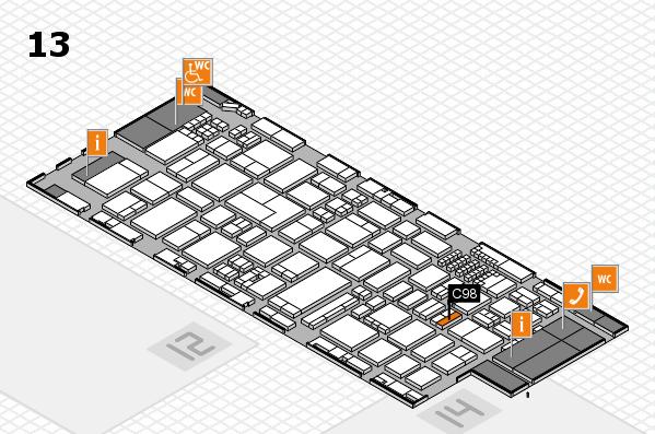 ProWein 2018 Hallenplan (Halle 13): Stand C98