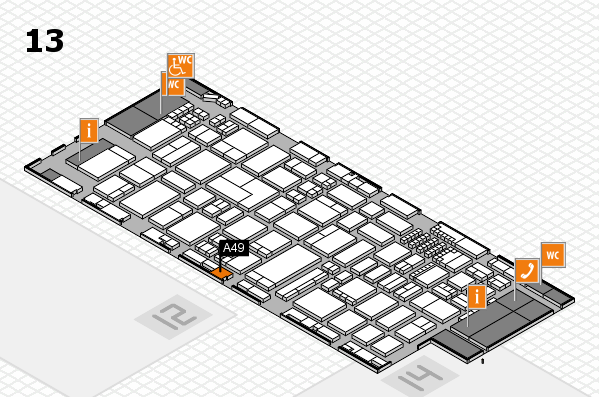 ProWein 2018 hall map (Hall 13): stand A49
