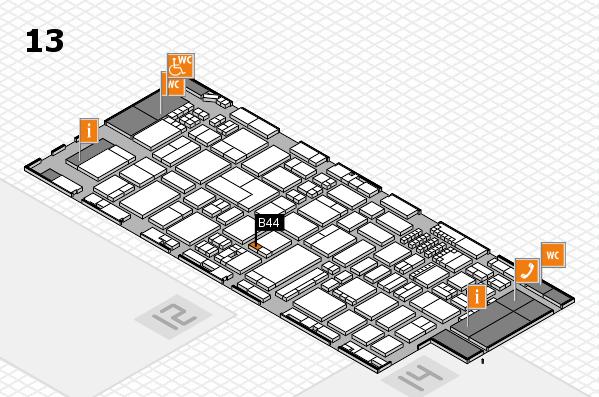 ProWein 2018 Hallenplan (Halle 13): Stand B44