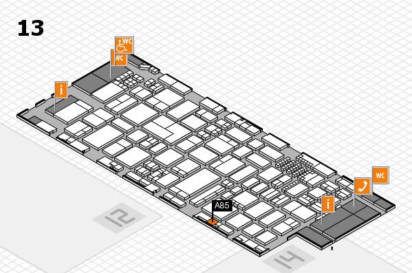 ProWein 2018 Hallenplan (Halle 13): Stand A85