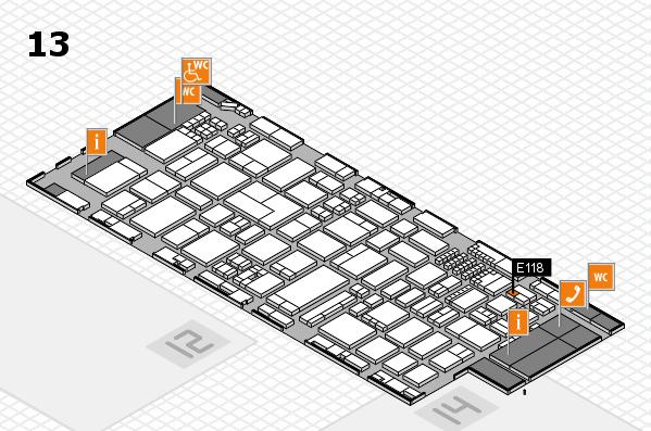 ProWein 2018 hall map (Hall 13): stand E118