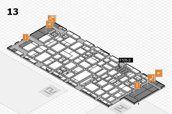 ProWein 2018 Hallenplan (Halle 13): Stand F105-2