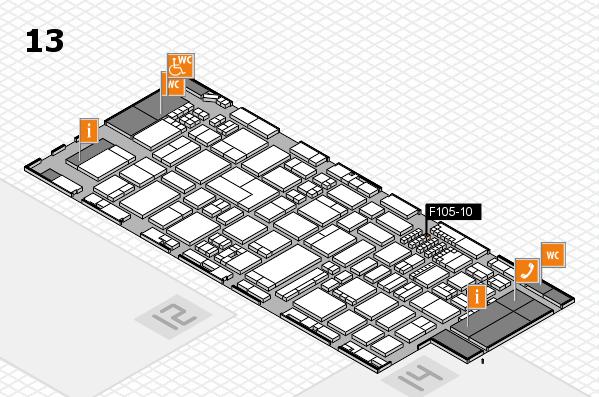 ProWein 2018 Hallenplan (Halle 13): Stand F105-10