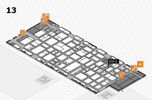ProWein 2018 Hallenplan (Halle 13): Stand E93-2
