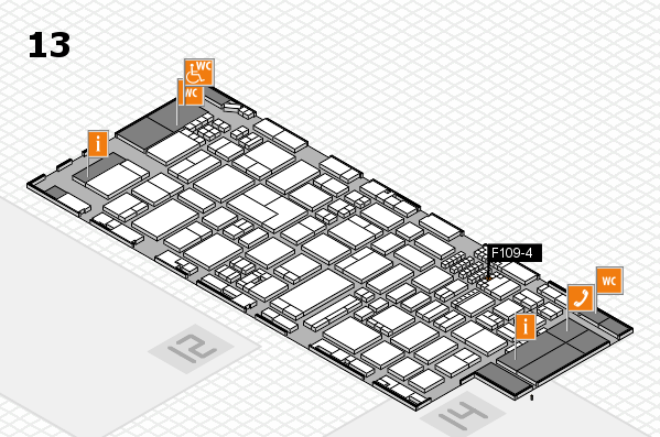 ProWein 2018 hall map (Hall 13): stand F109-4