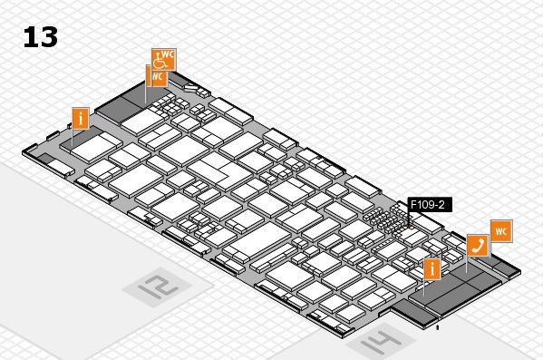 ProWein 2018 Hallenplan (Halle 13): Stand F109-2