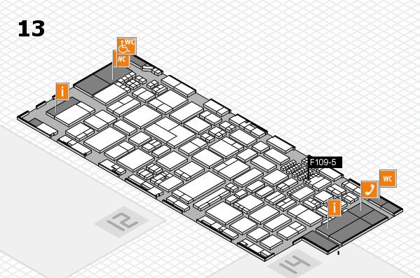 ProWein 2018 Hallenplan (Halle 13): Stand F109-5
