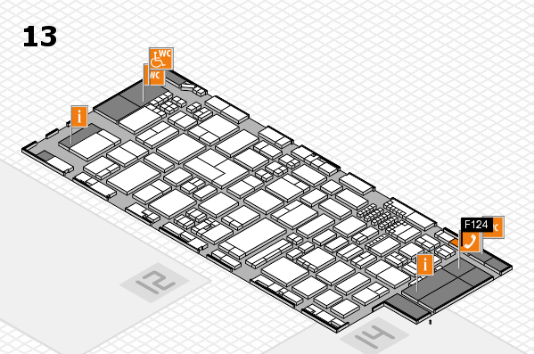 ProWein 2018 hall map (Hall 13): stand F124