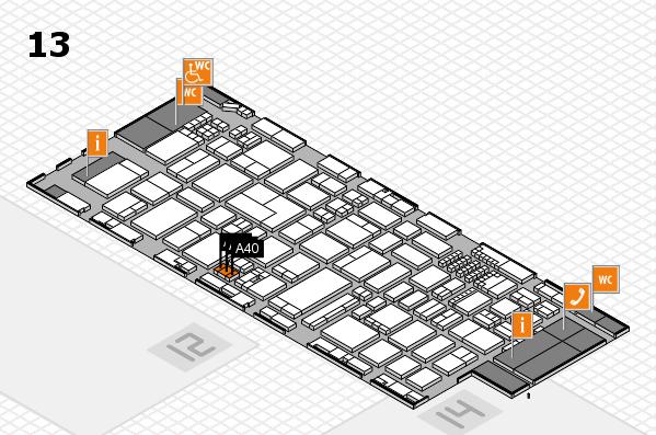 ProWein 2018 Hallenplan (Halle 13): Stand A40