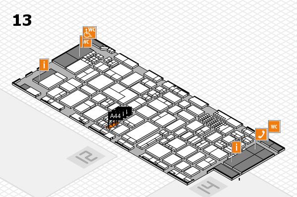 ProWein 2018 Hallenplan (Halle 13): Stand A44