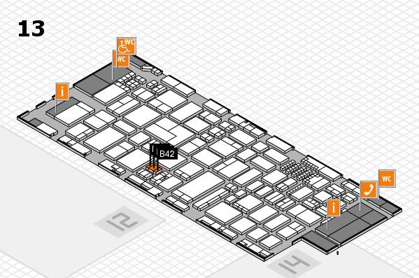 ProWein 2018 Hallenplan (Halle 13): Stand B42