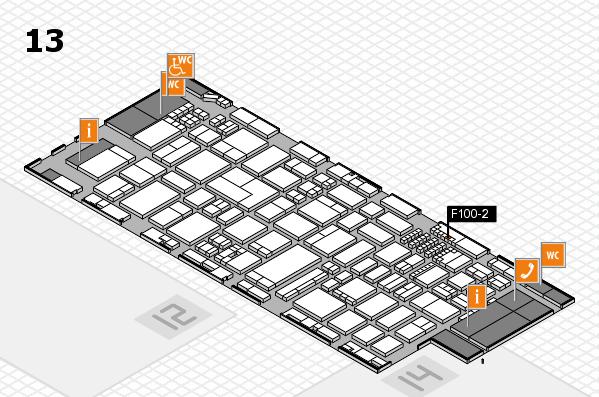 ProWein 2018 Hallenplan (Halle 13): Stand F100-2