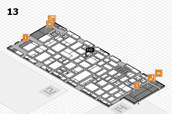 ProWein 2018 Hallenplan (Halle 13): Stand F43