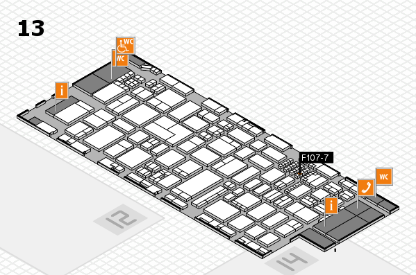 ProWein 2018 hall map (Hall 13): stand F107-7