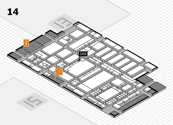 ProWein 2018 hall map (Hall 14): stand D65