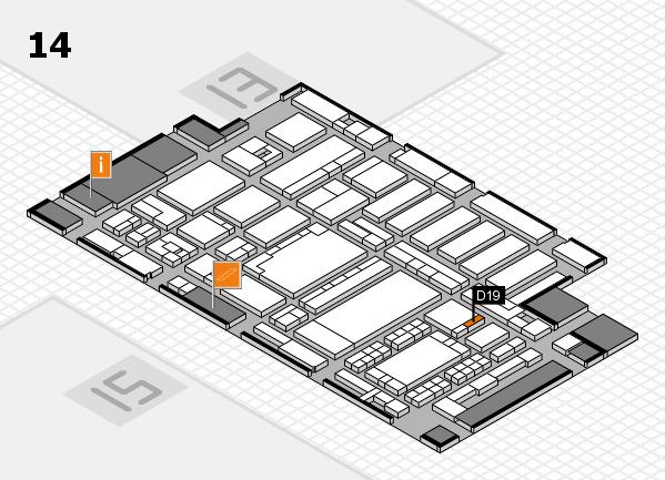 ProWein 2018 Hallenplan (Halle 14): Stand D19