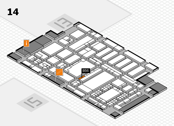 ProWein 2018 Hallenplan (Halle 14): Stand B56