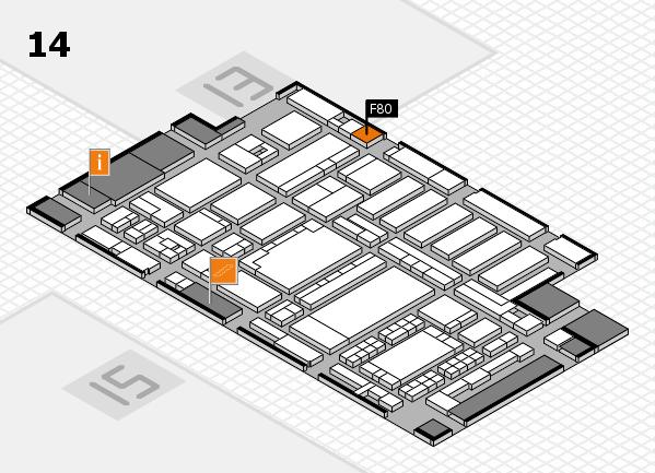 ProWein 2018 Hallenplan (Halle 14): Stand F80