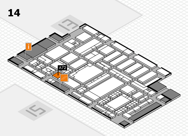 ProWein 2018 hall map (Hall 14): stand A72