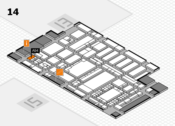 ProWein 2018 hall map (Hall 14): stand A94