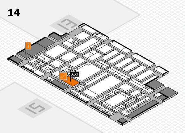 ProWein 2018 Hallenplan (Halle 14): Stand A60